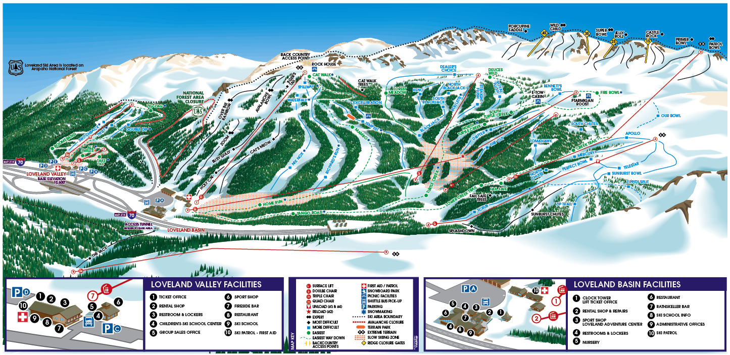 THE MOUNTAIN | Loveland Ski Area :: Colorado Ski Snowboarding Resort ...