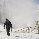 Snowmakers hard at work at Loveland Ski Area 2014
