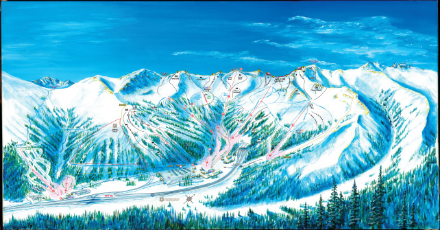 Loveland Ski Resort Trail Map