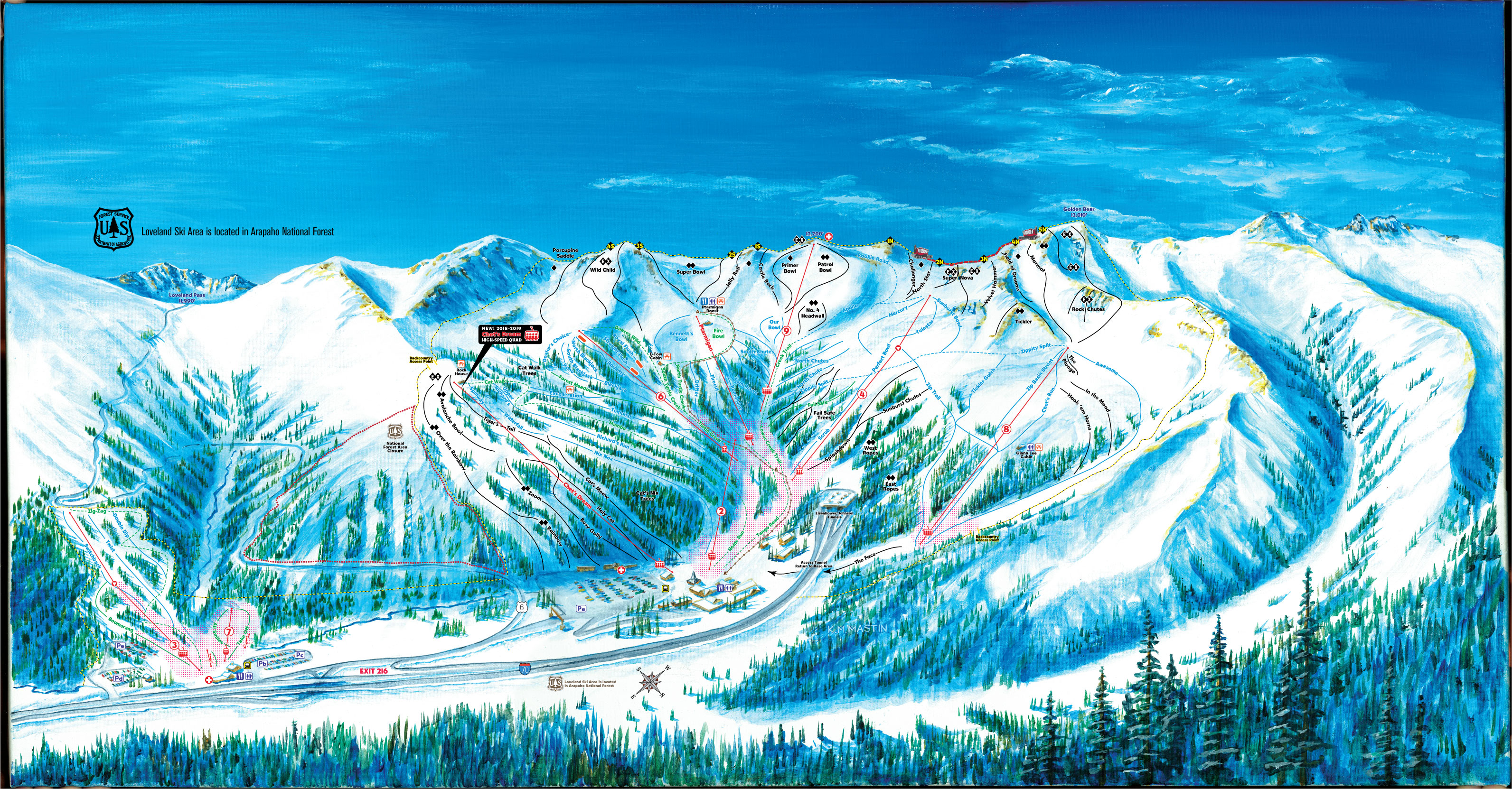 loveland map | 9-ski lifts & 1,800 acres of trails | loveland ski area