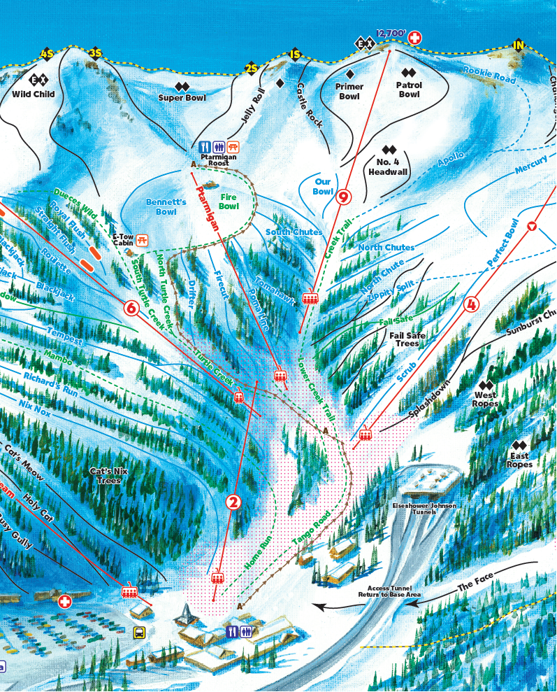 Uphill Skiing Access & Policies at land | land Ski Area on